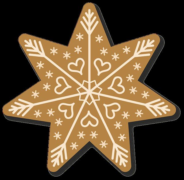 hópehely csillag alakban
